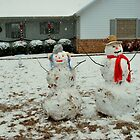 Meet & Mr and Mrs Snow man by Tracey Hampton
