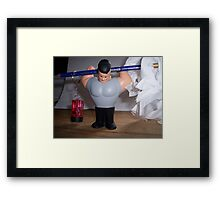 I was thinking:  Which one is heavier? Framed Print