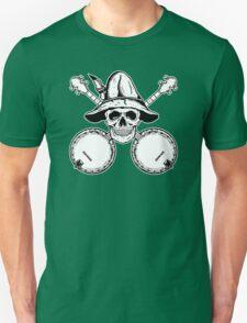 Blue Grass Skull and Banjos Unisex T-Shirt