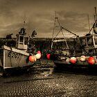 Fishing Boats at Lyme Regis by Rob Hawkins