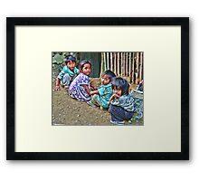 Batad, Philippines - HDR street kids Framed Print