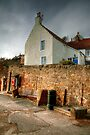 A House with Crow-stepped Gables at Crail by Christine Smith