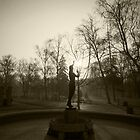 Statue of a nude girl, staring at the sun by BSBenev