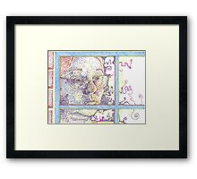 Day dreaming self protrait Framed Print