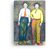 Bill and Pete Posing Canvas Print