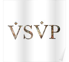 ASAP VSVP PINK BLUE BROWN FLORAL Poster