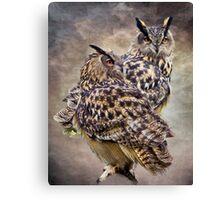 Silent Watchers In The Darkness Canvas Print
