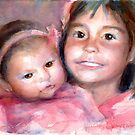 A Portrait a Day 45-46, Clem and Millie by Yevgenia Watts