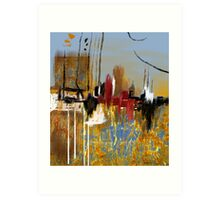 """Far Away City""  Art Print"