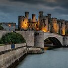 Conwy Castle by Lamplight by Adrian Evans