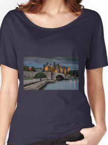 Conwy Castle by Lamplight Women's Relaxed Fit T-Shirt