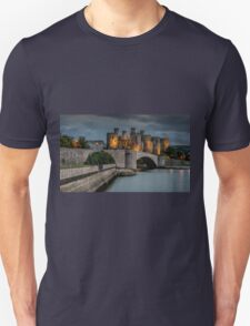 Conwy Castle by Lamplight Unisex T-Shirt