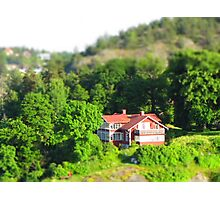 Small rural house in the woods Photographic Print