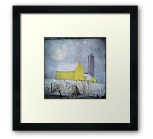 Old Yellow Barn Framed Print