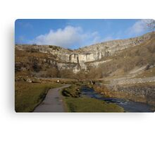 Malham Cove on a January Day Metal Print