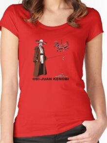 Obi-Juan Kenobi Women's Fitted Scoop T-Shirt