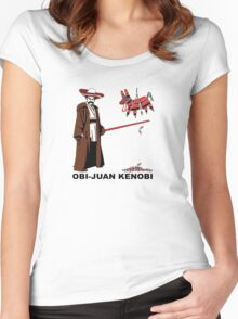 Obi-Juan Kenobi Women's Fitted Scoop T-Shirt