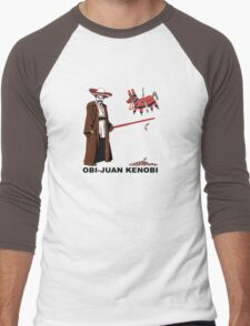 Obi-Juan Kenobi Men's Baseball ¾ T-Shirt