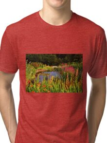 Delgatie Castle Pond (near Turriff, in Aberdeenshire, Scotland) Tri-blend T-Shirt