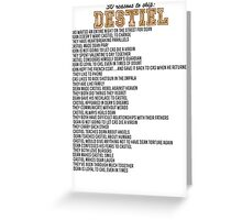 30 reasons to ship Destiel Greeting Card