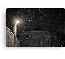 floating flakes Canvas Print