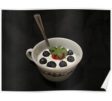 Berries in Yogourt Poster