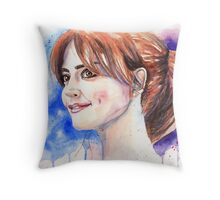 Clara Oswald. Jenna Coleman Throw Pillow