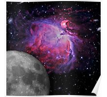 Space Galaxy Moon Mission 01 Poster