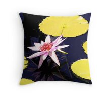 Waterlily summer series Throw Pillow