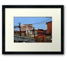 """ Busy Signal ""  # 7 urban series Framed Print"