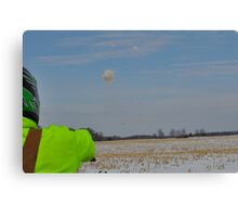 Snow ball  Canvas Print