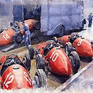 Team Ferrari 500 F2 1952 French GP by Yuriy Shevchuk