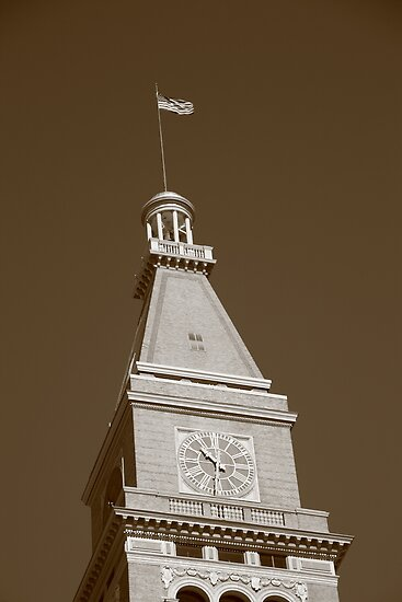 Historic D & F Clocktower - Denver by Frank Romeo