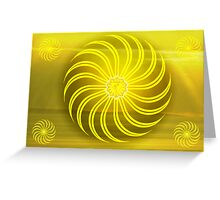 Solar Plexus ~ Yellow ~ Manipura ~ Female Greeting Card