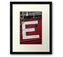 Big E Framed Print