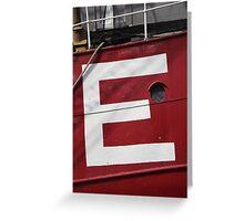 Big E Greeting Card