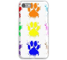 Ink Splatter Dog Paw Pattern iPhone Case/Skin