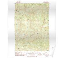 USGS Topo Map Oregon Battle Ax 278954 1985 24000 Poster