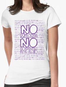 No Means No Womens Fitted T-Shirt