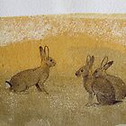 Three Rabbits by Polecatty