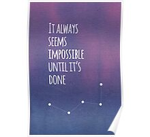 Purple Life Quote Poster