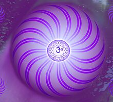 Crown Chakra ~ Violet ~ Sahasrara ~ Female by Julia Harwood