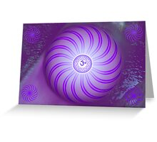 Crown Chakra ~ Violet ~ Sahasrara ~ Female Greeting Card