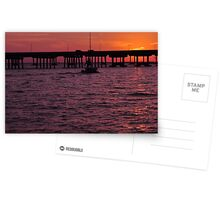 Laishley Pier Sunset, As Is Postcards