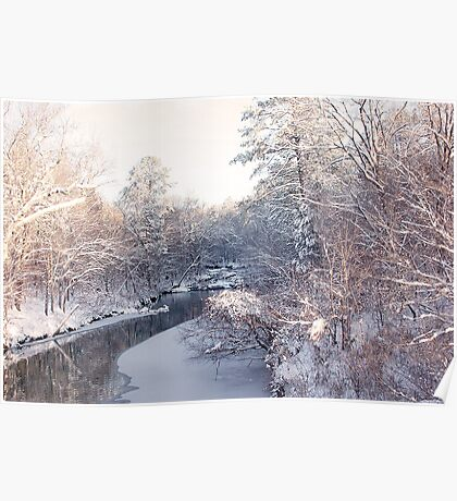 Snow on the Prairie Poster