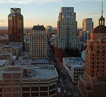 downtown Sacramento California cityscape by Lenny La Rue, IPA