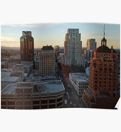downtown Sacramento California cityscape Poster