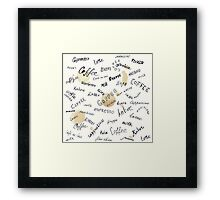 Coffee words background Framed Print