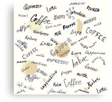 Coffee words background Canvas Print