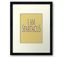 SPARTACUS, I am Spartacus! No I am Spartacus! Blood & Sand, Gladiators, Coliseum, Combat, Death Framed Print